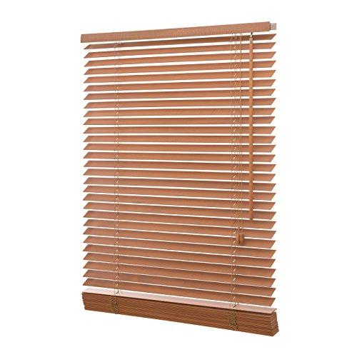 Holzjalousie 35mm eiche / Holz Jalousie Jalousette Echtholz (120x130 (B x H in cm))