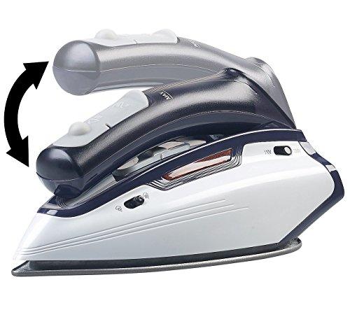 Sichler Haushaltsgeräte Mini Bügeleisen: 2in1-Reise-Dampfbügeleisen mit klappbarem Griff, 1.150 W, 110/230 Volt (Dampf-Reisebügeleisen)