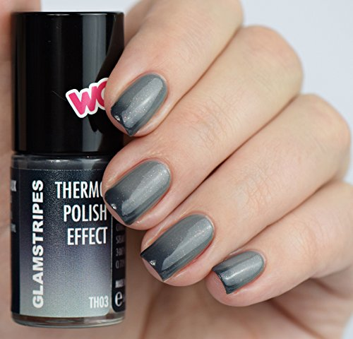 THERMO NAIL POLISH EFFECT - BLACK TO GREY - NEW! THERMO NAGELLACK