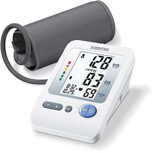 Sanitas SBM 21 Oberarm-Blutdruckmessgerät, vollautomatische Blutdruck- und Pulsmessung am Oberarm mit Arrhythmie-Erkennung