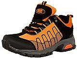 GUGGEN Mountain, Frauen Trekkingschuhe Damen Wanderschuhe Walkingschuhe Outdoorschuhe Outdoor Schuhe Softshell T002, Farbe Orange, EU 38