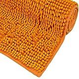 WohnDirect Badematte - Badezimmerteppich zum Set kombinierbar - rutschfest - Badvorleger - Waschbar - Duschvorleger - Badteppich - 70x120cm - Orange