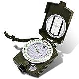 DLAND Militär Marschkompass mit Tasche für Camping, Wanderung,Klettern, Rad fahren, und andere Aktivitäten im Freien. ( Armeegrün )