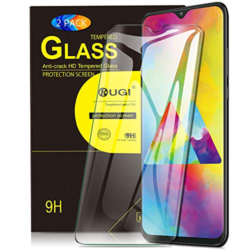 KuGi. Panzerglasfolie Schutzfolie für Samsung Galaxy M20, 9H Hartglas HD Glas Blasenfrei Displayschutzfolie passt für Samsung Galaxy M20 Smartphone. Klar [2 Pack]