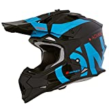 O'Neal 2Series RL Slick Motocross Helm MX Enduro Gelände Quad Cross Motorrad Bike Schutz, 0200-SAdult, Farbe Schwarz Blau, Größe XL