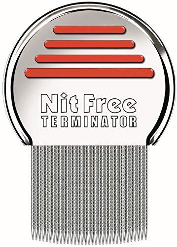 Original NitFree Terminator Läusekamm bzw Nissenkamm entfernt sicher Läuse, Eier und Nissen deutsche Version