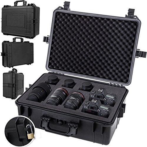 KESSER Kamerakoffer unisversal, wasserdicht, Outdoor, wetterfester, staubdichter, Koffer, Fotokoffer mit Einlage für Kamera Objektive und Zubehör,
