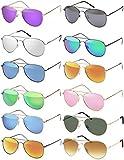 Premium Set, Pilotenbrille Verspiegelt Fliegerbrille Sonnenbrille Pornobrille Brille mit Federscharnier (76 | Rahmen Schwarz - Glas Dunkelgrau)