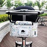 Kinderwagen Organizer, Universale Baby Kinderwagentasche mit Reißverschluss, Unverzichtbares Kinderwagen-Zubehör Aufbewahrungstasche (Stil 1_ Vogel)