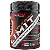 Push it to the Limit - Pre Workout & Trainings Booster - L-Arginin + Citrullin + L-Arginin + Beta Alanin + L-Tyrosin - Fokus & Pump beim Training - Hardcore - 600 g Pulver Waldfruchtgeschmack