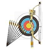 Bogenset Komplettset Man Kung Compoundbogen Hawk Autumn Camo 79 cm / 17-23 lbs RH + 12 Pfeile + 1 Zielscheibe 60 cm
