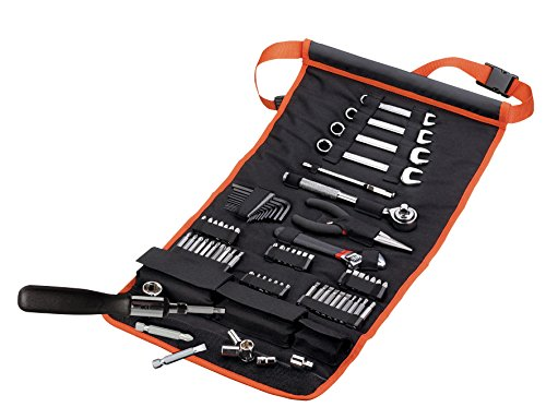 Black+Decker A7063 76-teiliges Mechaniker-Set, Werkzeug-Rolltasche