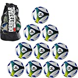 10x erima Hybrid Training royal/lime Größe 5 + 1x Ballsack Ballpaket TOP PREIS Teamsport Plum