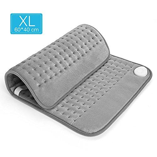 Heizkissen mit Abschaltautomatik und Schnell Heiztechnik, verstellbaren Gürtel Wärmekissen für Rücken Nacken Shultern 40 * 60 cm