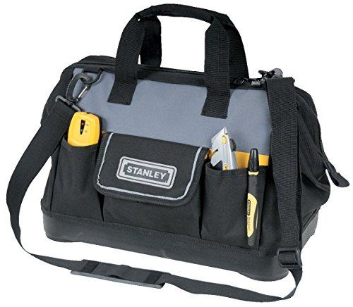 Stanley Werkzeugtasche / Werkzeugbeutel (44.7x27.5x23.5cm, robuster Kunststoffboden, verstärkte Ecken, stabiles 600 Denier Nylon, verstellbarer Schultergurt, wasserdicht) 1-96-183