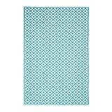 Pureday Outdoor-Teppich Casablanca - Wendeteppich - 100% Polypropylen - Türkis Weiß - ca. 120 x 180 cm