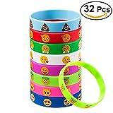 TOYMYTOY 32 Stück Kinder Armbänder Silikon für Kinder Geburtstag Party Geschenk Mitgebsel