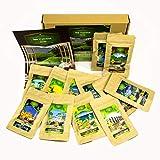Tee Probierset mit int. aromatischen Tee Sorten (12x7 Tassen) I Ausgefallene Geschenkidee Teebox I originelles Geschenk für Frau Sie Ihn Freundin Frauen