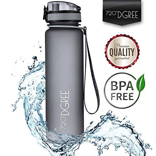 Trinkflasche 'uberBottle' von 720°DGREE - Wasserflasche aus Tritan 1l | Neuartige Flasche | Water Bottle - BPA Frei | Ideale Sportflasche für Kinder, Fitness, Fitnessstudio, Fahrrad, Sport, Fussball, Kindergarten, Kleinkinder | Auslaufsichere Fahrradflasche, Wasser Flasche, Sporttrinkflasche Inkl. Frucht Sieb für Fruchtschorlen | +Bonus Abstract