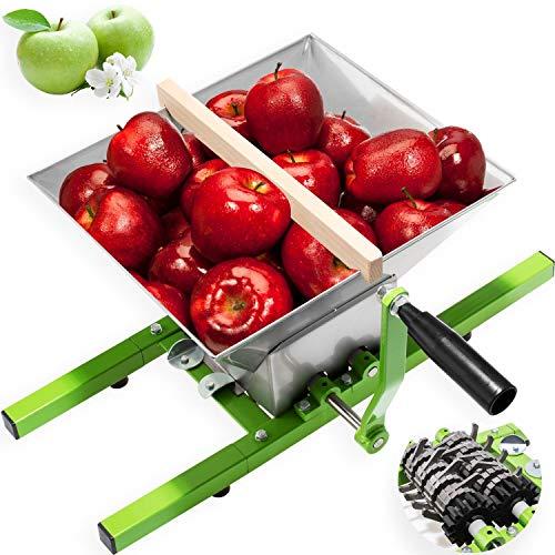 KESSER Obstmühle 7 Liter/Beerenmühle / Traubenmühle/Maischemühle / Mühle/Maischemühle / Obstpresse mit Handkurbel