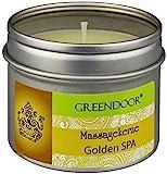 Greendoor BIO Massagekerze Golden SPA, 100 ml - BIO Sojawachs & BIO Babassuöl, natürliche Mischung entspannender ätherischer Öle - vegan, rußt nicht, ohne Tierversuche - beliebtes Geschenk, Massageöl Massage Öl
