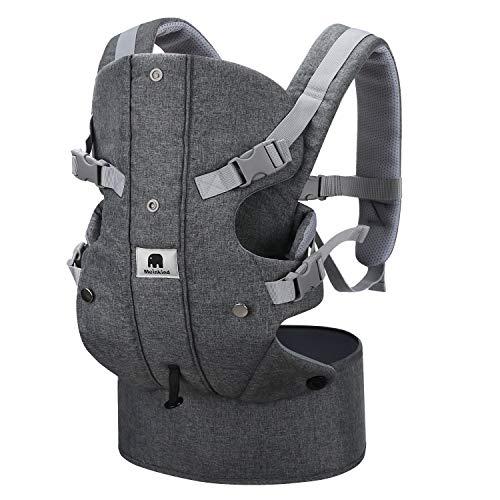 Meinkind Babytrage/Bauchtrage/Rückentrage/Baby Carrier mit Kapuze, Grau