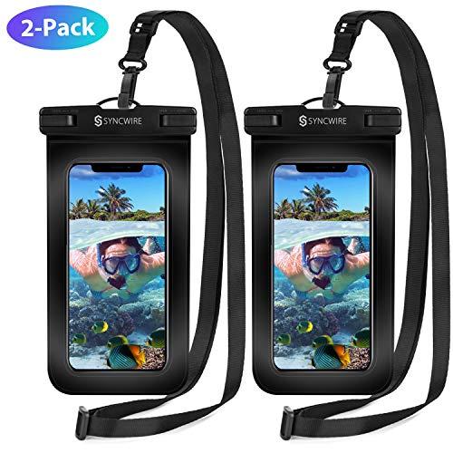 Syncwire wasserdichte Handyhülle Unterwasser Wasserfeste - 2 Stück 7 Zoll DOPPELT VERSIEGELT Wasserdicht Handy Hülle Handytasche für iPhone XS Max XR X 8 7 6+ Samsung S10 S9+ Huawei P30 Pro und mehr