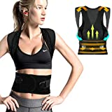 FYLINA Haltungskorrektur,Rücken Schulter Haltungstrainer,Verstellbar Atmungsaktiv Haltungstrainer Geradehalter Körperhaltung und Unterstützung für Damen und Herren