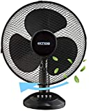 Tischventilator Ø30 cm 40 Watt   Ventilator   Rotation zuschaltbar   oszillierend   leiser Betrieb   Windmaschine   Luftkühler   geeignet für Schlafzimmer, Büro, Wohnzimmer  