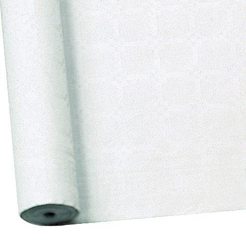 Susy Card 11170453 Tischtuchrolle, Damast, geprägt, Papier, bedruckt, 25 x 1 m, weiß