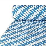 PAPSTAR Papiertischtuch/Tischtuchrolle mit Damastprägung Bayerisch Blau (1 Stück) 50 x 1 m, für Haushalt, Gastronomie oder Festlichkeiten, beliebig zuschneidbar, 12544