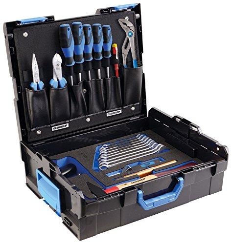 GEDORE L-BOXX 136 - 23 teilig / Der Azubi Werkzeugkoffer mit Check-Tool-Einlage / Profi Werkzeuge für jede Gelegenheit / Spannungsprüfer