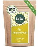 Johanniskraut Tee Bio (250g) - Echtes Johanniskraut, geschnitten - Hypericum - abgefüllt und kontrolliert in Deutschland (DE-ÖKO-005)