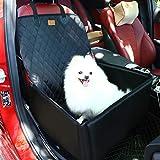 Hund Autositzbezug 2 in1 Pet Bucket Cover Booster Sitz Rutschfest Wasserdicht Verstellbar Sitzbezug Vordersitz für SUVs, Autos & Fahrzeuge