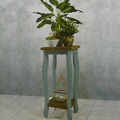 DRULINE Pflanztisch Blumentisch Gartentisch Dekotisch Beistelltisch Pflanzen Tisch Grau-Blau