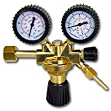 STAHLWERK Druckminderer für ARGON /CO2 / Mischgas/Schutzgas bis 315 Bar und 32 L/Min. für WIG/MIG/MAG Schweißgeräte