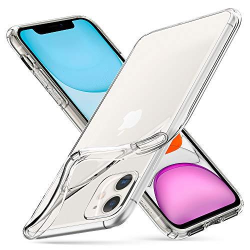 Spigen Liquid Crystal Kompatibel mit iPhone 11 Hülle, Transparent TPU Silikon Handyhülle für iPhone 11 Case Crystal Clear 076CS27179