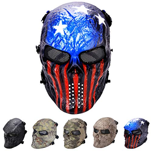 outgeek Tactical Airsoft Maske Full Face Kostüm Maske (Urban), Patriot