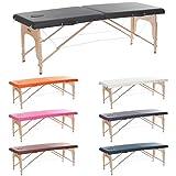 H-ROOT 2 Zonen Leichte Tragbare Massage Tisch Couch Bett Sockel Therapie Tatoo Salon Reiki Heilung schwedische Massage mit Kostenlosen Tragetasche 12,8 KG(Schwarz) …