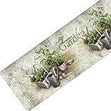 Dekolust Küchenläufer 180x50 cm Summer Herbs Fußmatte Küchenteppich