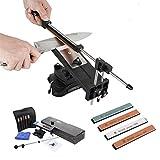 Wdj Verbesserte Version Festwinkelmesserschärfer Profi Küchenmesser Sharpener Kits System mit 4 Schleifsteinen