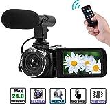 Camcorder Full HD 1080P Digitalkamera WiFi IR Nachtsicht Funktion Blogging Kamera Videokamera Externes Mikrofon