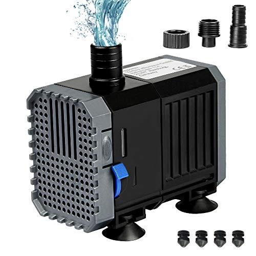 Yorbay CHJ-500 7W 500L/H Wasserpumpe Aquariumpumpe für Aquarium, Tischbrunnen, Zimmerteich usw.