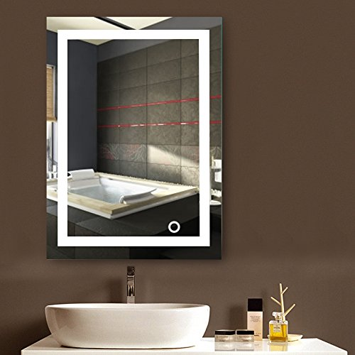 Wandspiegel LED Badezimmerspiegel Beleuchtet Bad Spiegel 500x700mm/ 600x800mm 22W Kaltweiß A+ (500x700mm)