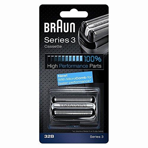 Braun Elektrorasierer Ersatzscherteil 32B, kompatibel mit Series 3 Rasierern, schwarz