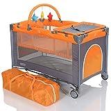 LCP Kids Baby-Reisebett 120x60 klappbar mit Neugeborenen Einlage Wickelauflage