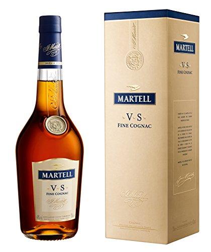 Martell V.S. Fine Cognac 1715 / Einzigartiger Cognac mit würzigem Geschmack / Ideal als Geschenk oder für besondere Anlässe geeignet / 1 x 0,7 L