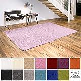 Teppich Wölkchen Shaggy-Teppich | Flauschige Hochflor Teppiche für Wohnzimmer Küche Flur Schlafzimmer oder Kinderzimmer | Einfarbig, schadstoffgeprüft, allergikergeeignet (Rosa Pastell, 120 x 170 cm)