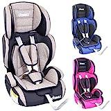 KIDIMAX Autokindersitz Kindersitz Kinderautositz, Sitzschale, universal, zugelassen nach ECE R44/04, in 3, 9 kg - 36 kg 1-12 Jahre, Gruppe 1/2 / 3 (Grau)