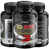 Pro Red Daemon Ultra Concentrate | T-Boost Formel mit Aminosäuren + Tribulus + Maca Extrakt + Boron - Testosteron Booster - Beliebt bei Bodybuildern & aktiven Männer